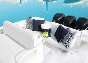 Cockpit of Due West bottom fishing and yacht charter boat in Turks and Caicos
